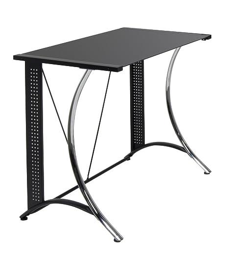 Calico Designs 50401Monterey scrivania con vetro, colore: nero, colore: nero