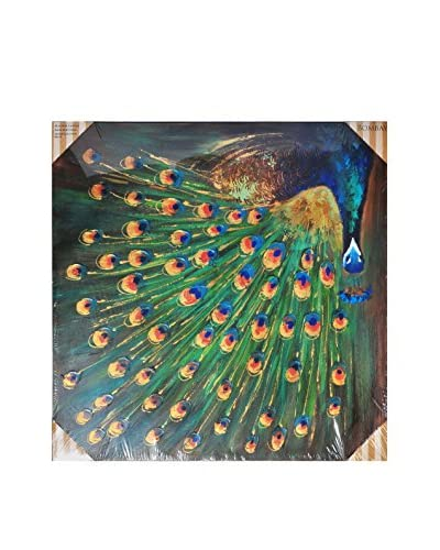 Bombay Company Peacock Canvas Art