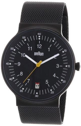 Braun - BN0082BKBKMHG - Montre Homme - Quartz Analogique - Bracelet Acier Inoxydable Noir