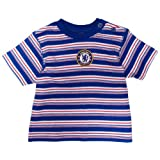 Chelsea Football Club Unisex Baby T-Shirt With Horizontal Stripes And Club Badge In Centre