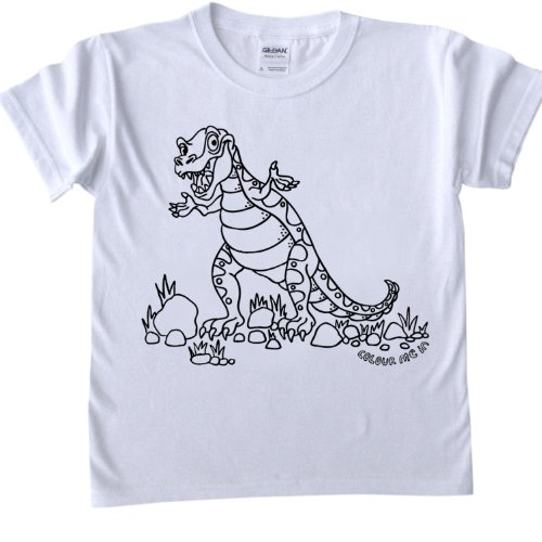 T-Shirts To Colour In - T-Rex Design