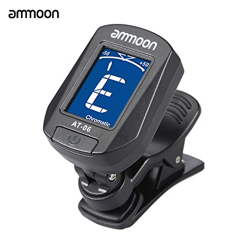 ammoon AT-06 Automatique électronique Tuner clip LCD Numérique pour Guitare Violon Ukulélé Basse Chromatique