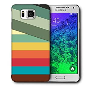 Snoogg Slant Multi Color Printed Protective Phone Back Case Cover For Samsung Galaxy SAMSUNG GALAXY ALPHA