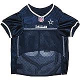 Dallas Cowboys NFL Dog Jersey White Trim - Medium