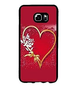 printtech Heart Ribbon Flower Love Back Case Cover for Samsung Galaxy S6 Edge+ G928::Samsung Galaxy S6 Edge Plus G928F