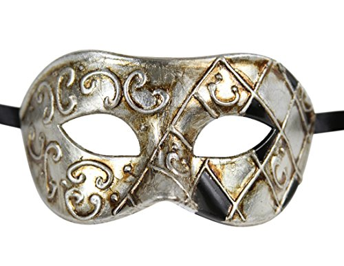 Luxury Mask Men's Vintage Design Masquerade Prom Mardi Gras Venetain