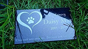 "Custom Made Pet Stone Memorial Marker Granite Marker Dog Cat Horse Bird Human 6"" X 10"" Personalized Personalised Maltese Mastiff Collie"