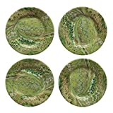 Juliska Firenze Marbleized Pistachio Cocktail Plates Set of Four