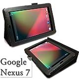 【minisuit】Google Nexus 7 レザー調 スタンド 【ケース】 フリップスタンド 手帳型 ブラック