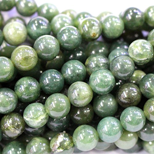 Natural Color Canada Nephire jade Round Gemstone Jewelry Making Loose Beads (8mm) (Gem Stones For Jewelry Making compare prices)