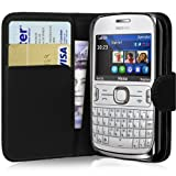 Fi9TM NOKIA ASHA 302 BOOK WALLET FLIP PU LEATHER CASE COVER POUCH + SCREEN PROTECTOR