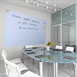 ZhiDian Soft White Board Stick a Big White Wall Dry-erase Board Can be Several Times to Wipe the Surface Adsorption Magnet Thickness of a Variety of Choices (60*36 Inches, 0.5MM)