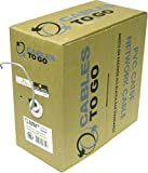 C2G / Cables to Go 27352 Cat5E UTP Solid PVC CMR-Rated Cable, Grey (1000 Feet/304.8 Meters)