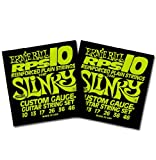 Ernie Ball 2240 RPS Regular Slinky Electric Guitar Strings 10-46 2 Pack