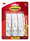 Command Utility Hooks Value Pack, Medium, White, 6-Hooks (17001-6ES)