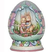Jim Shore Easter Lighted Springtime Egg Diorama