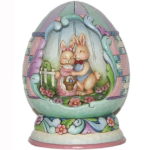 Easter Lighted Springtime Egg Diorama