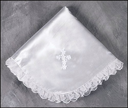 Satin Baby Blanket/Lace Trim - 1