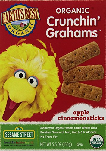 Earth's Best Organic Crunchin' Grahams, Apple Cinnamon, 5.3 Ounce (Pack of 6) - 1