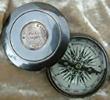 BEAUTIFUL Robert Frost Full Road Not Taken Poem Solid Brass Pocket Compass 2