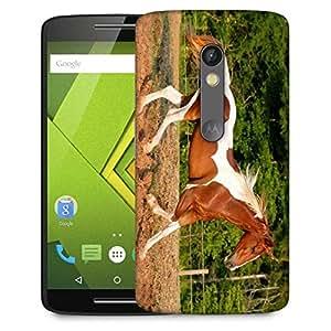 Snoogg Single Horse Running Designer Protective Phone Back Case Cover For Lenovo Motorola Moto G4