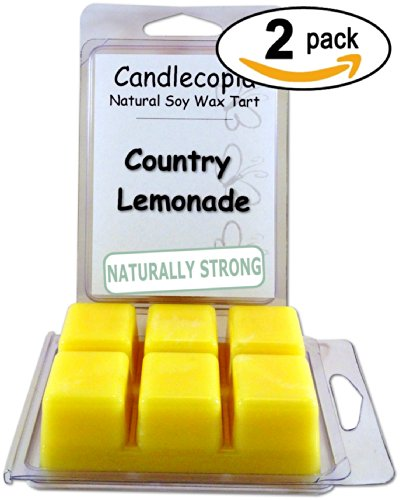 Candlecopia Country Lemonade 6.4 Oz Scented Wax Melts - Pucker Up To To Sparkling Splashes Of Juicy Lemon, Tangy Citron Zest, And Sweet Clementine! - 2-Pack Of Naturally Strong Scented Soy Wax Cubes Throw 50+ Hours Of Fragrance When Melted In Scentsy®, Ya