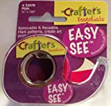 "Easy See Removable Highlighter Tape, Pink 720"" L X 1/2"" W Roll"
