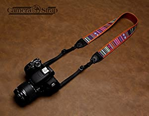 Camera Straps Retro Vintage VNS Soft Multi-color Neck Strap for Canon Fuji Nikon Olympus Panasonic Pentax Sony Cameras (Photo Passers-series SLR Camera Accessories 8 Color)