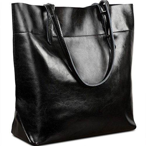 Yahoho Women's Casual Style Genuine Leather Tote Shoulder Bag