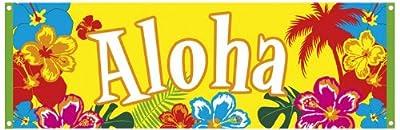 Boland 52505 - Banner Hawaii Hibiscus Aloha, 74 x 220 cm