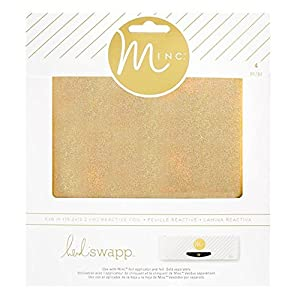 Heidi Swapp - Mini Minc - Transfer Folders & Holographic Gold and Silver Reactive Foil Sheets (Tamaño: 6-x-6-Inch)