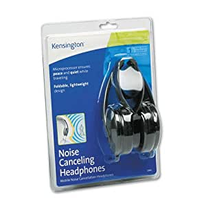 Kensington : Noise Canceling Headphones 33084 Folding Design, Portable -:- Sold as 2 Packs of - 1 - / - Total of 2 Each