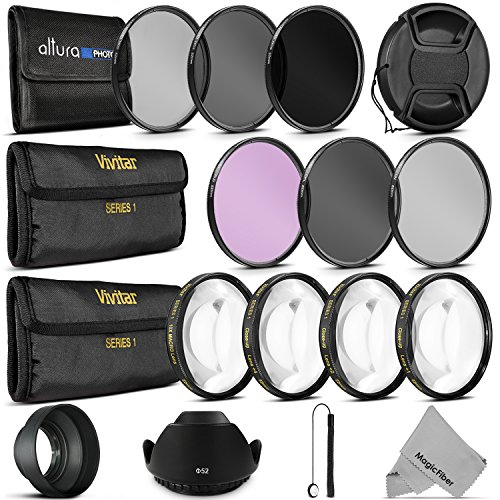 52MM Complete Lens Filter Accessory Kit for NIKON D3300 D3200 D3100 D3000 D5300 D5200 D5100 D5000 D7000 D7100 DSLR Camera (Goja Filter Kit compare prices)