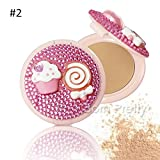 1 Pc Bling Containment Foundation Cream Whitening Sunscreen Powder # 23461