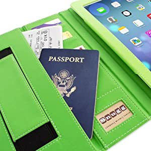 iPad 3 & 4 Case, Snugg™ - Executive Smart Cover With Card Slots & Lifetime Guarantee (Green Leather) for Apple iPad 3 & 4