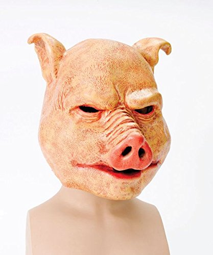 Bristol Novelty Orange Horror Pig Latex Masks Men's One Size