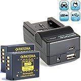 Bundlestar Akku Ladegerät 4 in 1 inkl Ladeschale für Fujifilm NP-W126 + 2x PATONA Ersatzakku für Fujifilm NP-W126 passend zu Fujifilm FinePix HS50EXR HS30EXR HS33EX X-T1 X-Pro1 X-E1 X-E2 X-A1 X-M1 -- NEUHEIT mit Micro USB Anschluss !