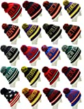 Absolute Clothing USA City Block Letters Cuff Beanie Knit Pom Pom Hat Cap