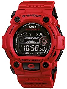CASIO GW7900RD4ER - Reloj de caballero de cuarzo, correa de resina color rojo