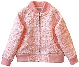 ASL Little Girls Jacquard Zipper Coats Baseball Shirts Jackets