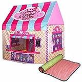 shuhali 子供テント 子供用 おもちゃ テントハウス ボールプール テント 室内 おままごと 大きめ 100cm (キャンディピンク)