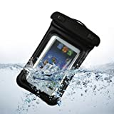 BoddBan® Universal waterproof sports protective dry armband Pouch / Case / Bag for iPhone 5 5c 5s, Samsung Galaxy s3 s4, Nokia Lumia, Sony xPeria, HTC and other Mobiles (Black)