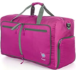 Sports Duffle Bag for Gym Gear or travel - with shoes pocket - 23\'\' (Medium, Pink)