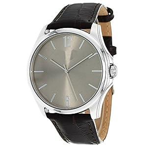 Generic Men's Simple Dial Plate Automatic Watch Waterproof 50M Brown