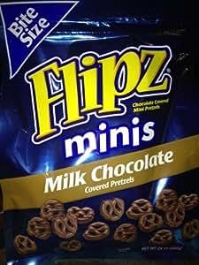 Flipz Mini's Milk Chocolate Covered Pretzels