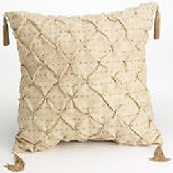 Croscill Matador 18-inch Square Toss Pillow, Beige