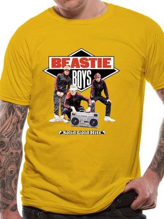 Men's Beastie Boys - Solid Gold T-Shirt Yellow 2652TSCPL Large