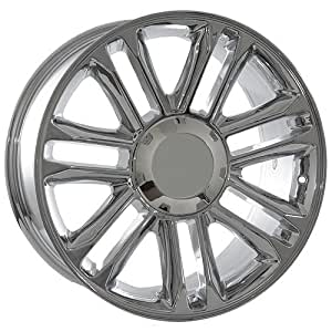 22 inch cadillac escalade oem factory platinum style chrome wheels rims automotive. Black Bedroom Furniture Sets. Home Design Ideas
