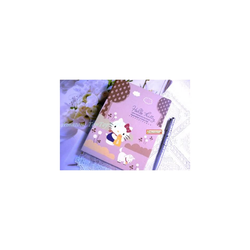 Sanrio Hello Kitty Diary School Work Scrapbook Lined Note Book+Sticker & File Pocket