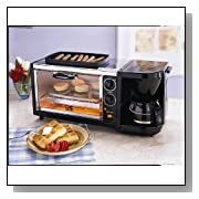 3-in-1 Breakfast Set Coffee Maker Oven Toaster Stainless Steel